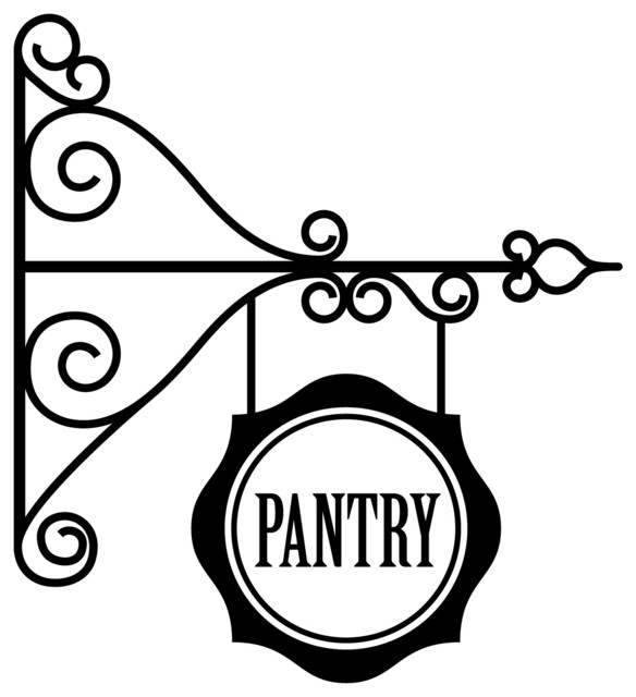 Charmant Hanging Pantry Sign Decal