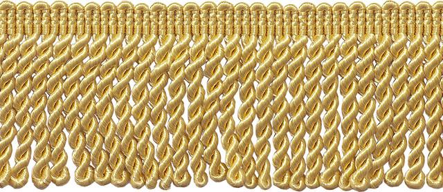 """10 Yards Light Gold 2.5/"""" Tassel Fringe Trim 24 Karat Gold"""