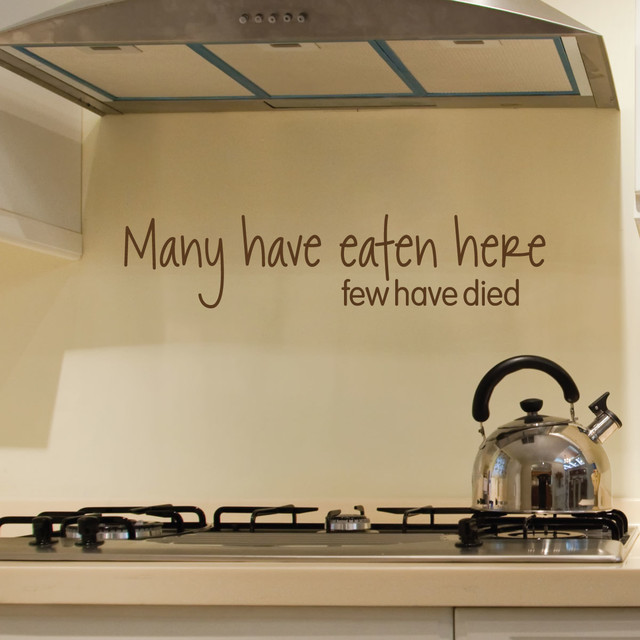 Many Have Eaten Here Funny Kitchen Dining Room Wall Quotes Decal