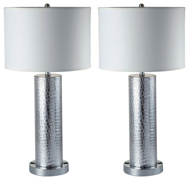 Bon Riomata Elegant 30u0027u0027 Table Lamps With Dual 3 Prong Outlets, Set ...