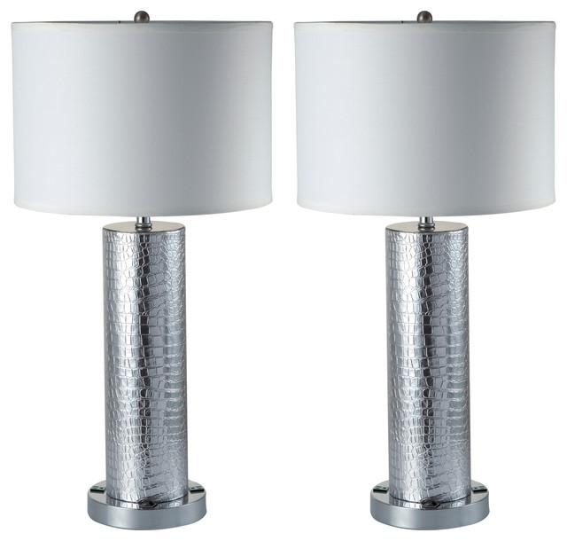 Riomata Elegant 30u0027u0027 Table L&s With Dual 3 Prong Outlets Set ...  sc 1 st  Houzz & Riomata Elegant 30u0027u0027 Table Lamps With Dual 3 Prong Outlets Set of 2 ...