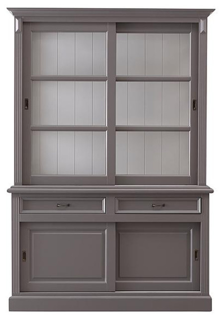 Wooden Display Cabinet, Murano and Light Grey