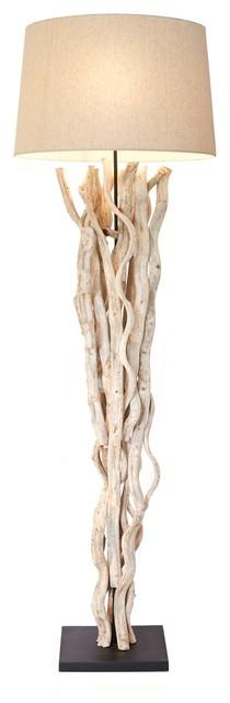 Natural Vine Floor Lamp Beach Style Floor Lamps By