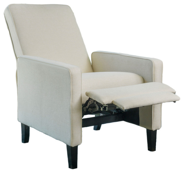 Olirdy Contemporary Beige Fabric Recliner Chair.