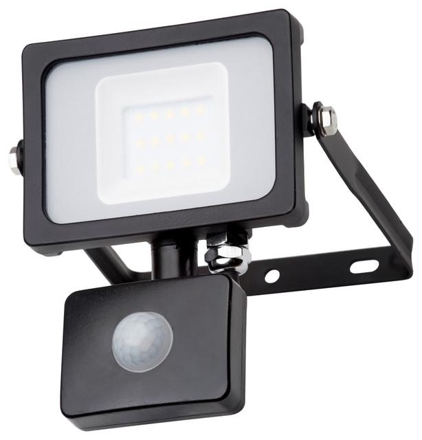 Outdoor Led Floodlight With Pir Sensor Black Security Lights Flood By Litecraft