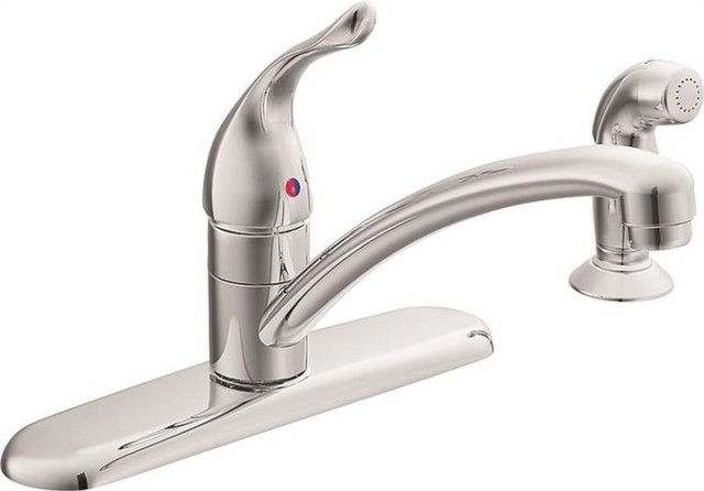 Kitchen Faucet Spray Chrome Contemporary Kitchen Faucets By