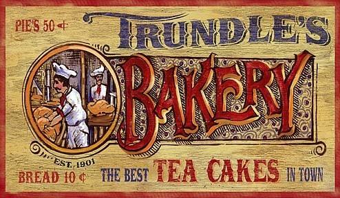 Nostalgic Vintage Bakery Signs Primitive Kitchen Sign