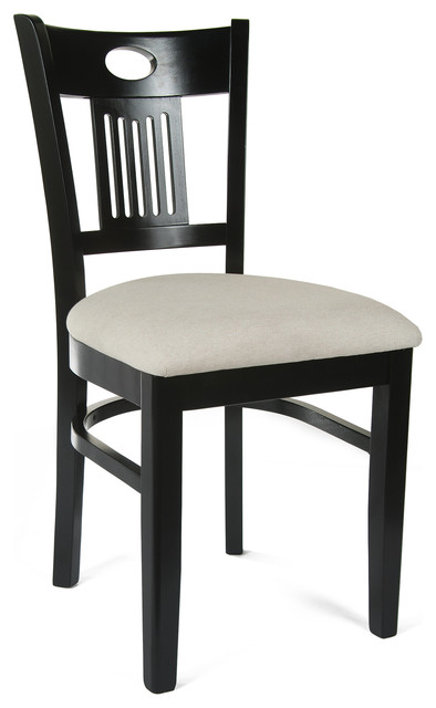 Beechwood Furniture Exterior violin back side chairs with cushion, set of 2  traditional