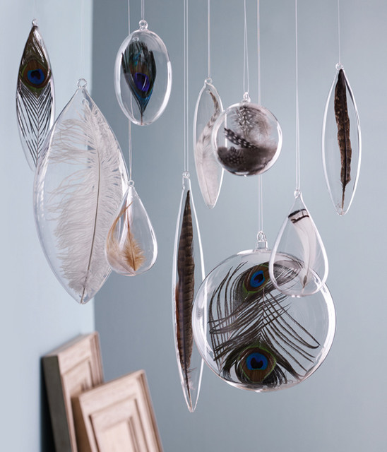 Floating Feather Ornaments by Roost