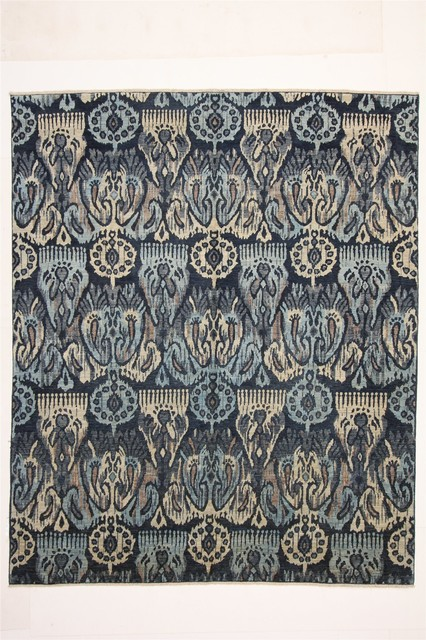 Indian Hand Knotted Wool Rug Blue