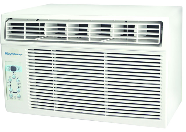 12000 Btu 115v Window-Mounted Air Conditioner, Follow Me Lcd Remote Control.
