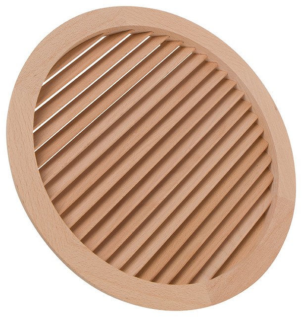 """9-15/16"""" Round Wood Air Vent Grille."""