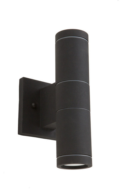 Nuevo 2-Light Black Outdoor Light.