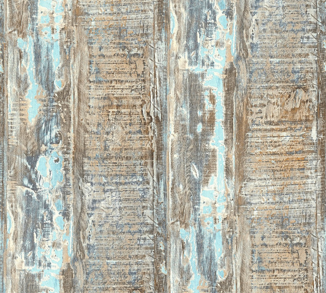 Modern Non Woven Wallpaper For Accent Wall Wood N Stone