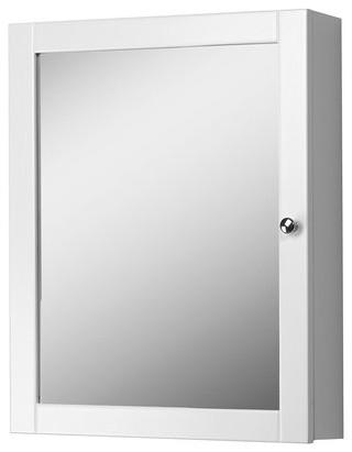 """19"""" Columbia Mirrored Medicine Cabinet, White."""