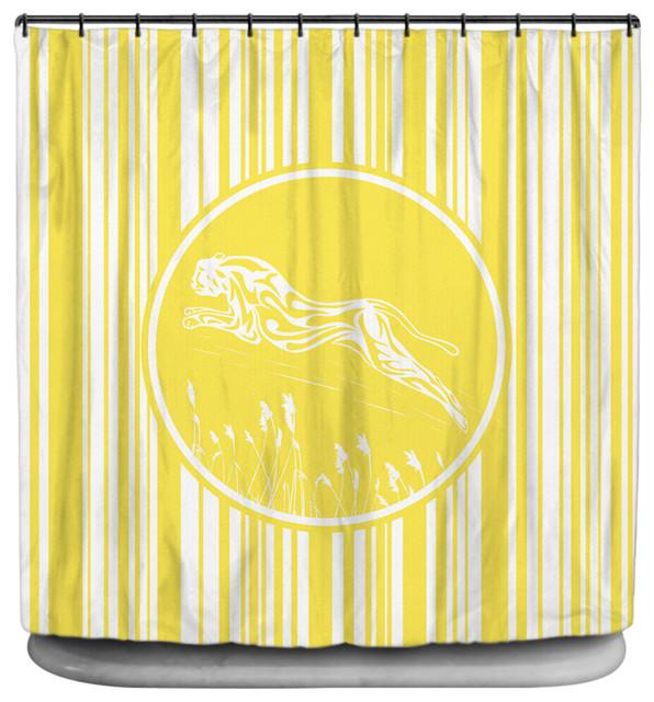 visionbedding cheetah shower curtain shower curtains houzz