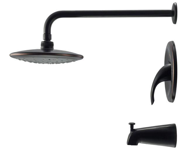 Sir Faucet 750 ABR Antique Bronze 3 Piece Rain Head Shower Set Showerheads