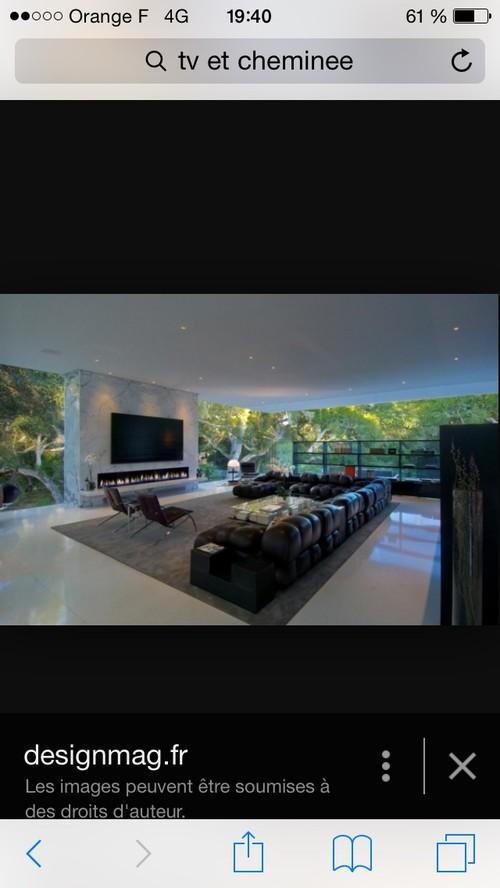 tv au dessus d une chemin e. Black Bedroom Furniture Sets. Home Design Ideas