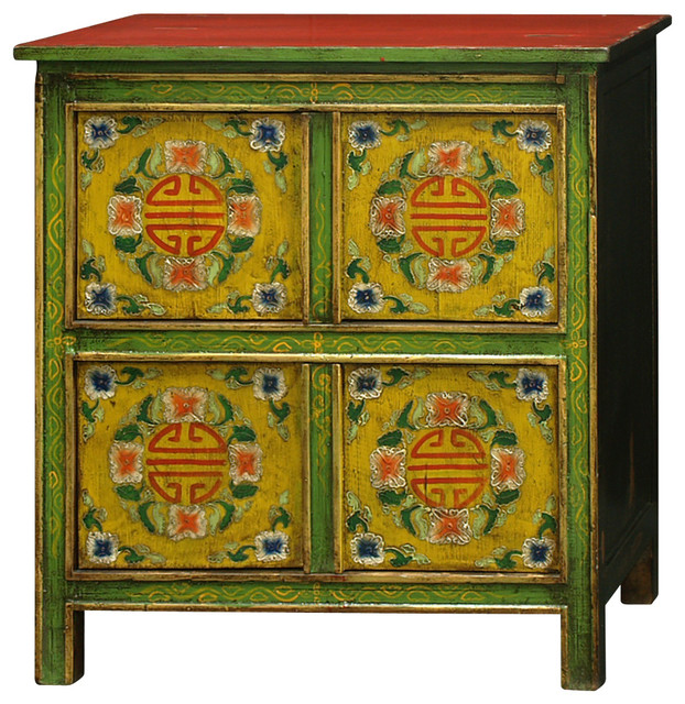 Hand-Painted Tibetan Chest - Asian - Accent Chests And Cabinets - by China Furniture and Arts