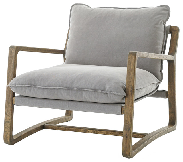 Abbott Ace Chair With Wood Frame.