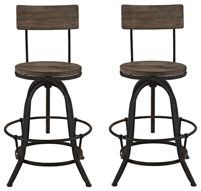 Modway Modway Procure Bar Stools, Set of 2, Brown