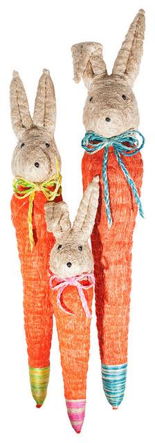 "Carrot Bunny Decor, Multi, 16""."