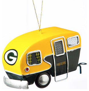 Green Bay Packers Metal Camper Ornament - Contemporary - Christmas Ornaments - by Gifted Living