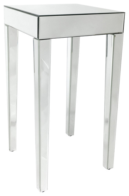 Layla Beveled Mirror End Table