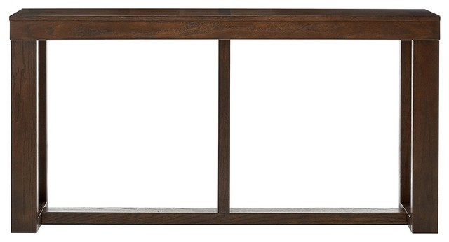 Modern Rectangular Sofa Table, Dark Brown.