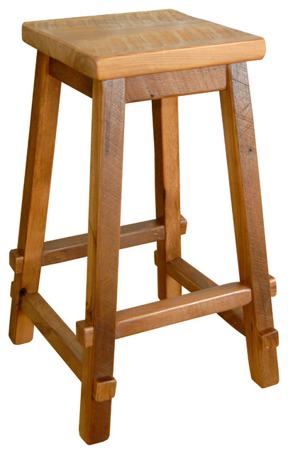 Astounding Rustic Reclaimed Barn Wood Square Top Bar Stool Natural Clear Varnish Pdpeps Interior Chair Design Pdpepsorg