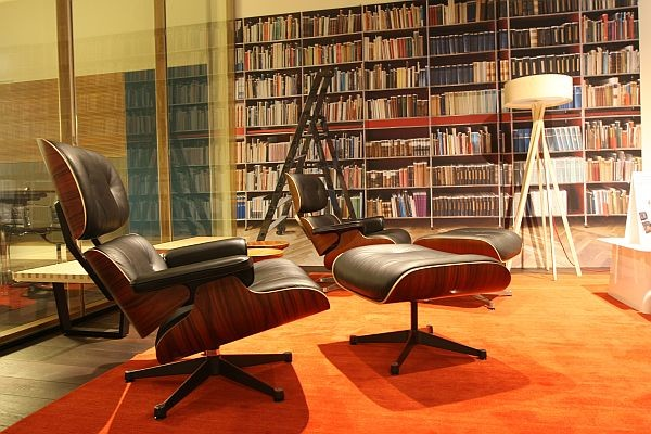 Eames Style Lounge Chair And Ottoman By Rove Concepts Midcentury Living Room