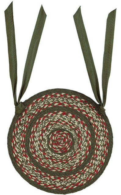 vhc brands holly berry jute chair pad 15 diameter set of 6