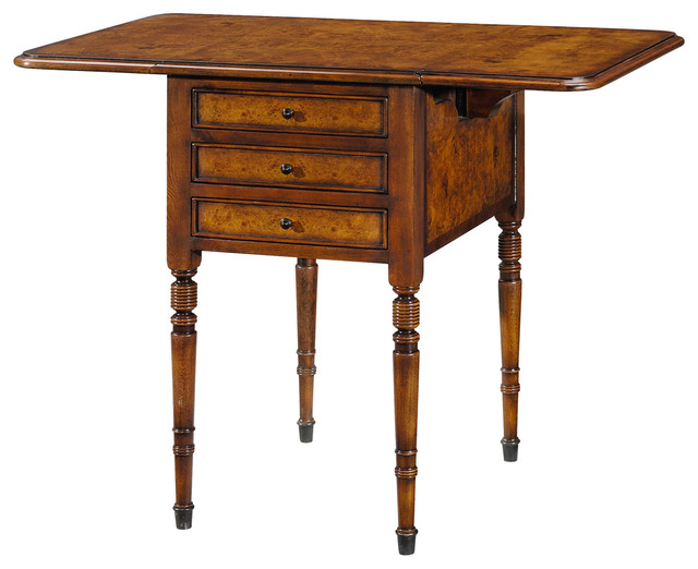 Theodore Alexander Essential TA Victoriau0027s Drop Leaf Accent Table  Traditional Side Tables And