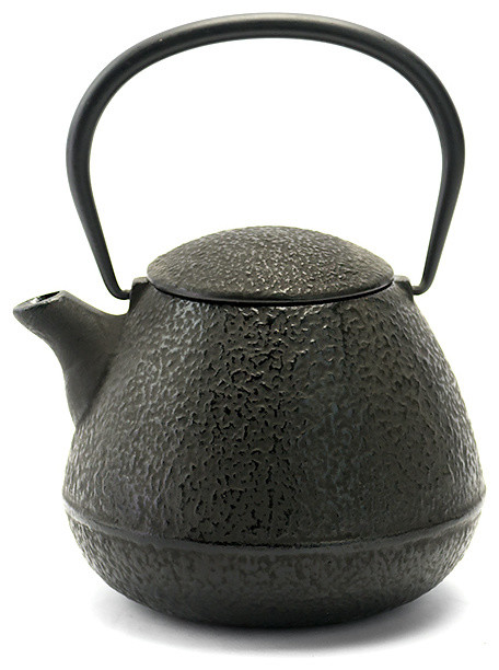 Rikyu Ground Cast Iron Teapot Black