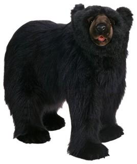 Hansa Creations Life Size Black Bear Walking Stuffed