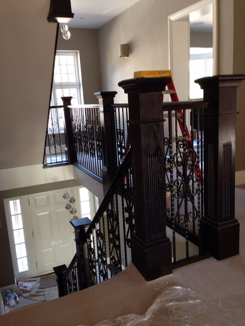 Grand staircase with balustrade