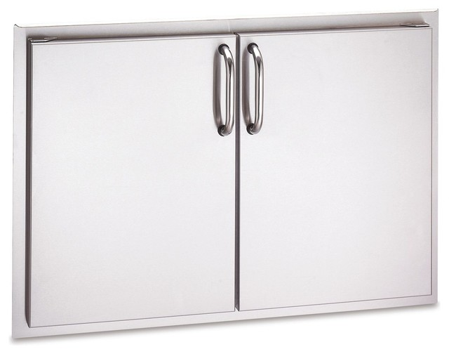 Outdoor Double Access Door With Tubular Handles, Cut Out 21x30.