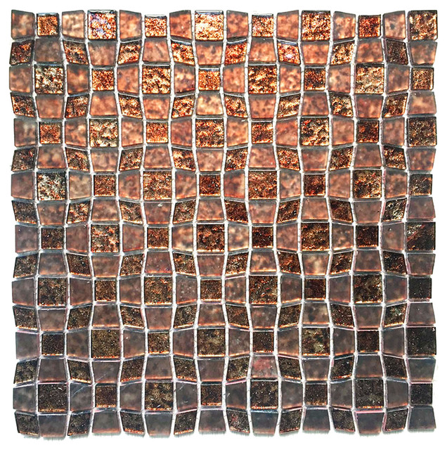 Peel And Stick Glass Mosaic Wall Tile Contemporary