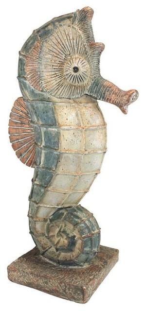 Large Seabiscuit Seahorse Statue, Seahorse Garden Statue