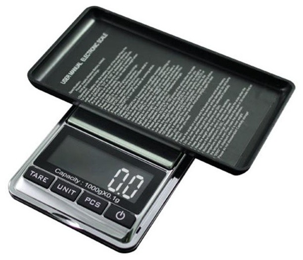 American Weigh Scales 1000x01g Digital Pocket Scale Chrome