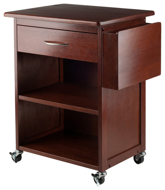 Winsome Maxwell Home Office Media Cart With Gadget Caddy.
