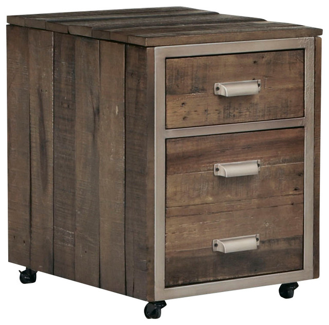 Hammary Flashback Mobile File Cabinet, Rusty Red-Brown ...