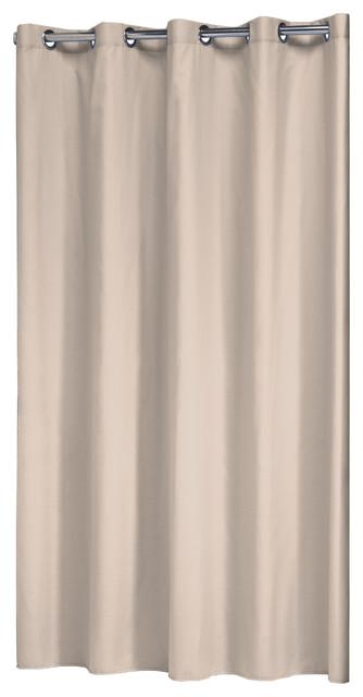 Extra Long Hookless Shower Curtain 72x78 Sealskin Coloris Beige