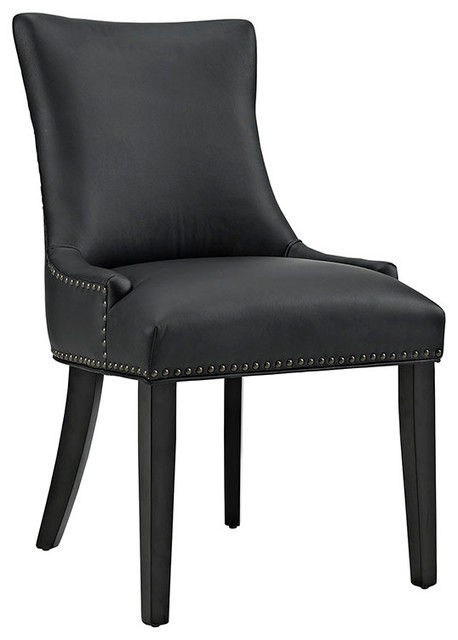 Marquis Faux Leather Dining Chair Transitional Dining Chairs