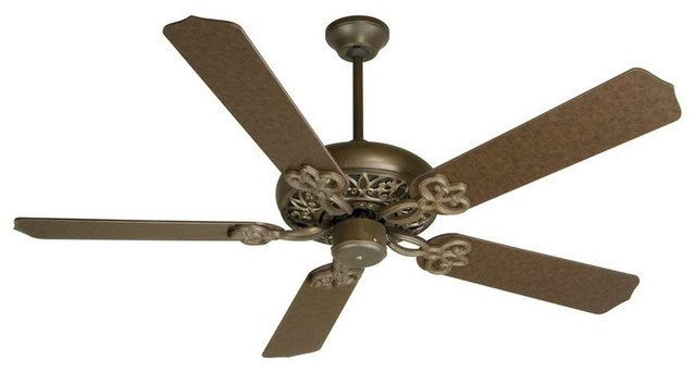 Craftmade Ceiling Fan, Aged Bronze Cecilia With 52 Aged Bronze Blades.