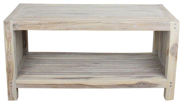 Bellavine Coffee Table With Shelf Livos Agate Gray Oil Finish