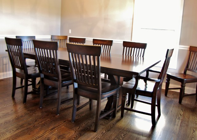 seating traditional dining room chicago by rustic
