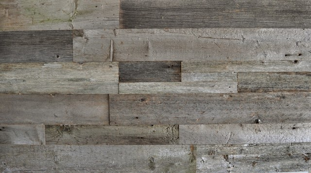 Reclaimed Wood Wall Paneling, Gray, Unsealed, 20 sq. ft. traditional- - Reclaimed Wood Wall Paneling, Gray, Unsealed, 20 Sq. Ft