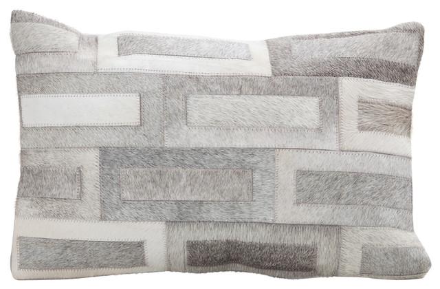 """Hair On Cowhide Cushions, Flagstone, 12x20""""."""