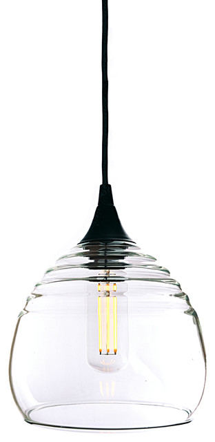 Lucent Pendant No 302b Clear Gl Shade Matte Black Hardware